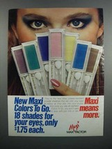 1983 Max Factor Colors-to-Go Eye Shadow Ad - $14.99