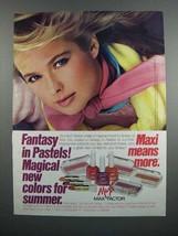 1983 Max Factor Cosmetics Ad - Fantasy in Pastels - $14.99