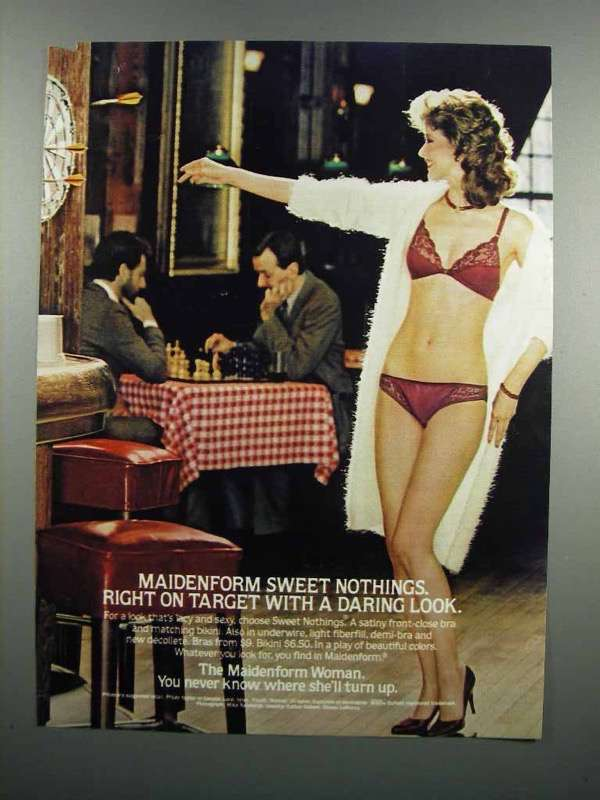 Primary image for 1983 Maidenform Sweet Nothings Bra and Bikini Ad