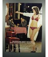 1983 Maidenform Sweet Nothings Bra and Bikini Ad - $14.99