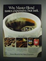 1983 Maxwell House Master Blend Coffee Ad - Expensive - $14.99