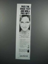 1983 Max Factor Erace Cover-up Ad - Pass the Test - $14.99