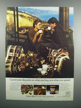 1983 Maxwell House Master Blend Coffee Ad - Good Taste - $14.99