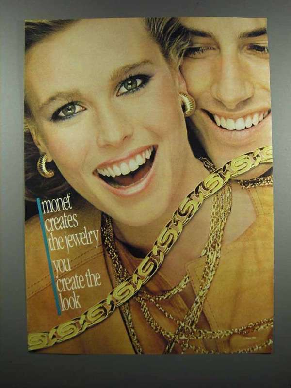 Primary image for 1983 Monet Jewelry Ad - You Create The Look
