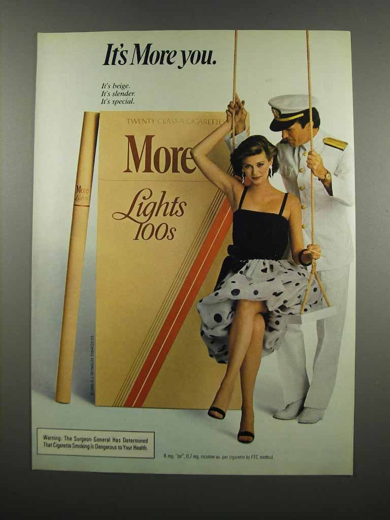 Primary image for 1983 More Lights 100s Cigarettes Ad