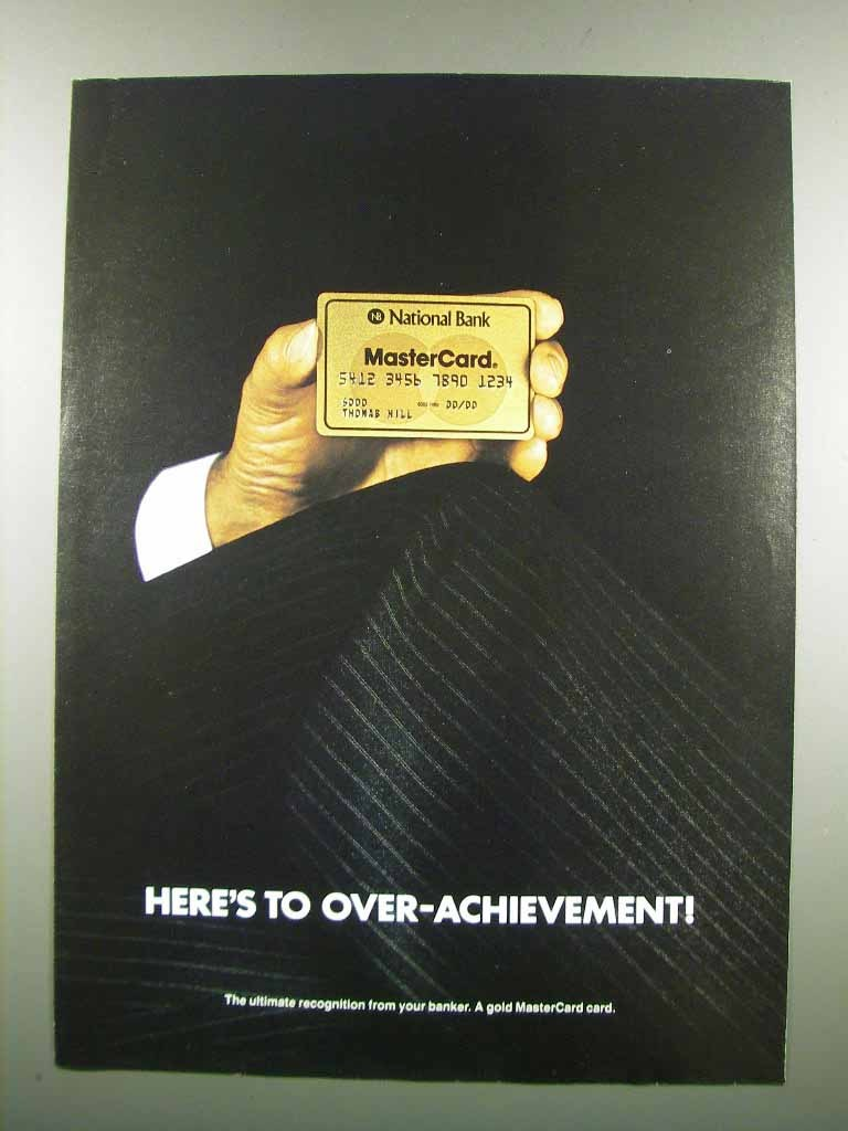 Primary image for 1983 National Bank MasterCard Ad - Over-Achievement