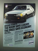 1983 Nissan Stanza Car Ad - Room Says Luxury - $14.99