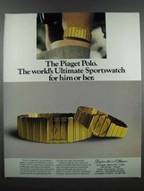 1983 Piaget Polo Watch Ad - Ultimate Sportswatch - $14.99
