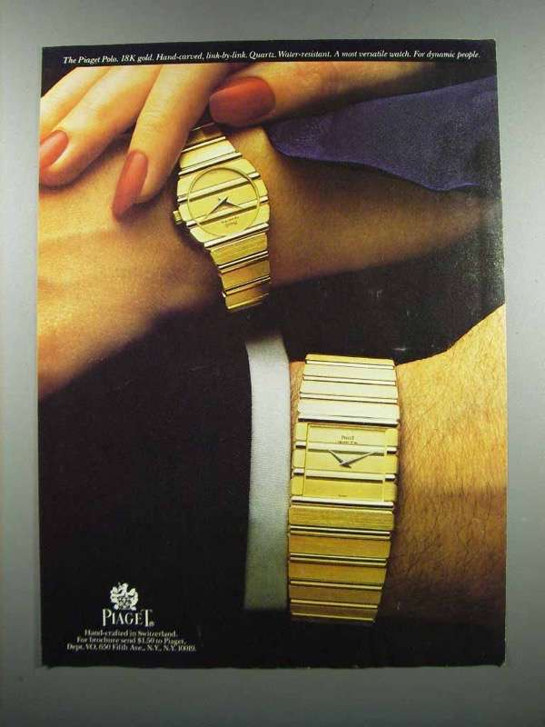 Primary image for 1983 Piaget Polo Watch Ad