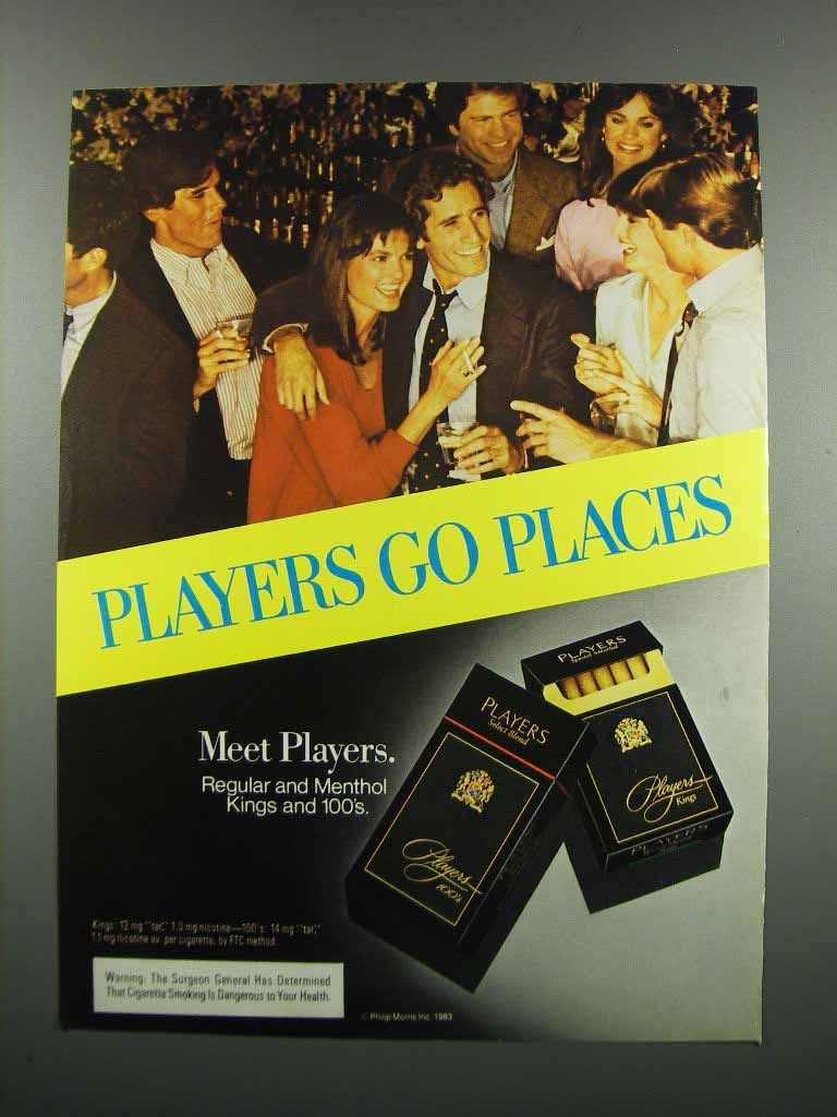 Primary image for 1983 Players Cigarettes Ad