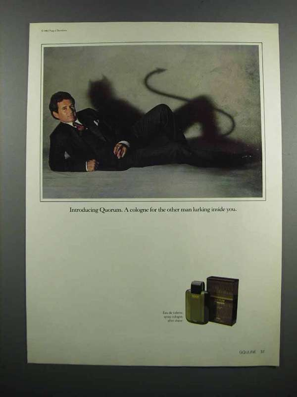 Primary image for 1983 Puig Quorum Cologne Ad - Lurking Inside You