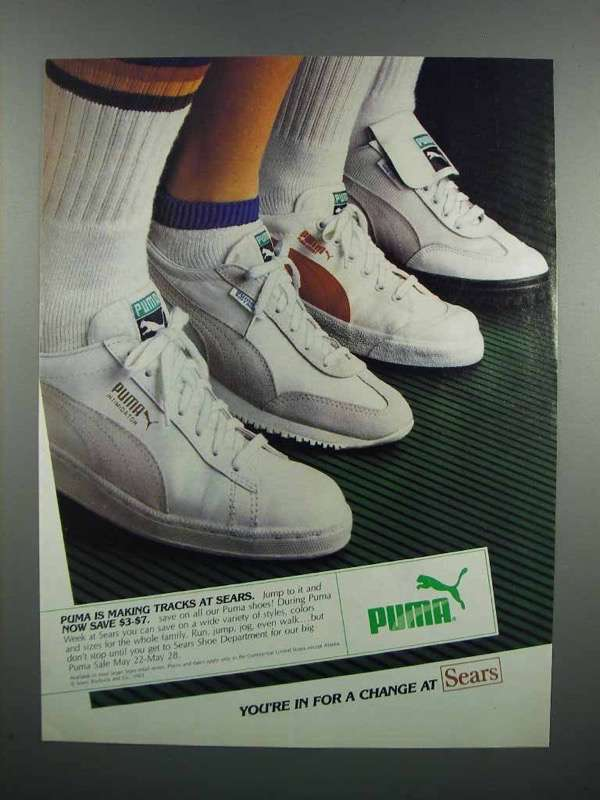 Primary image for 1983 Puma Shoes Ad - Making Tracks at Sears