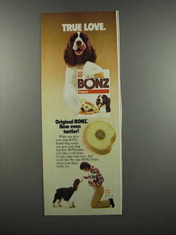 Primary image for 1983 Purina Bonz Dog Food Ad - True Love