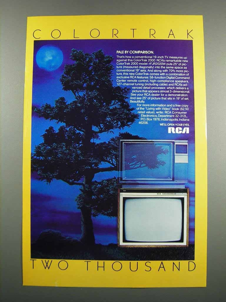 Primary image for 1983 RCA ColorTrak 2000 Model FJR2020W Television Ad