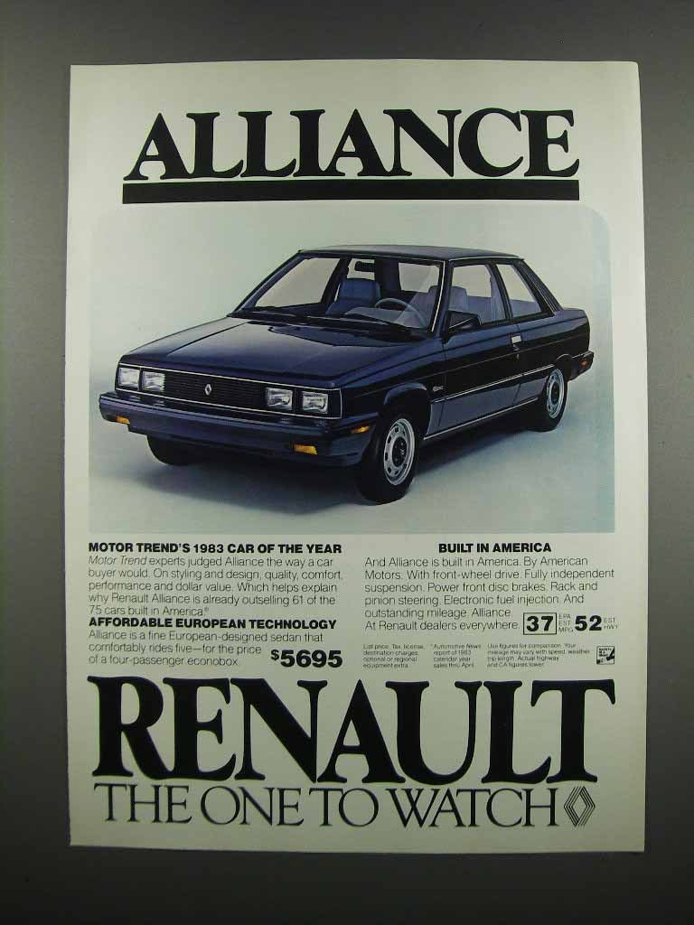 Primary image for 1983 Renault Alliance Ad