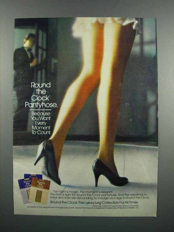 Primary image for 1983 Round the Clock Pantyhose Ad