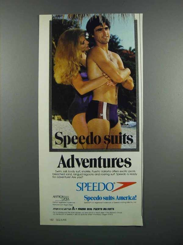 Primary image for 1983 Speedo Swimsuits Ad - Suits Adventures