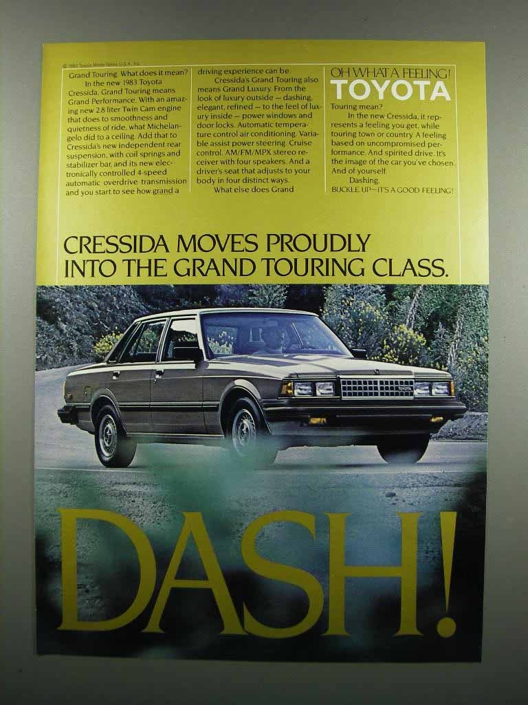 Primary image for 1983 Toyota Cressida Ad - Moves Proudly