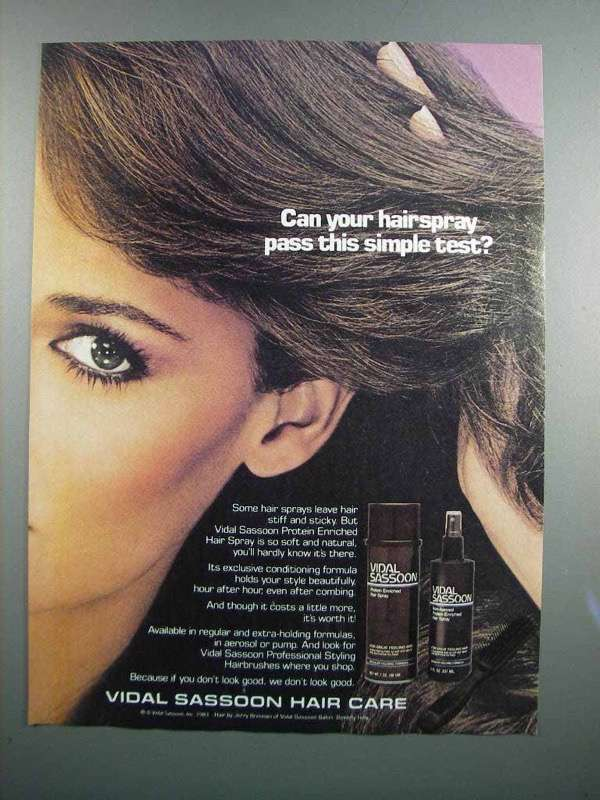 Primary image for 1983 Vidal Sassoon Protein Enriched Hair Spray Ad