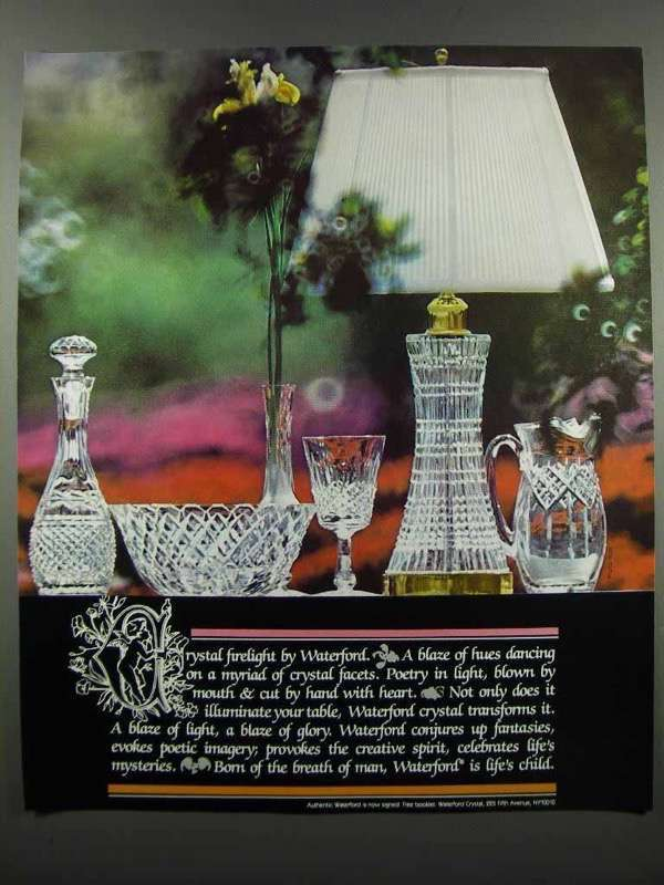 Primary image for 1983 Waterford Crystal Ad - Firelight