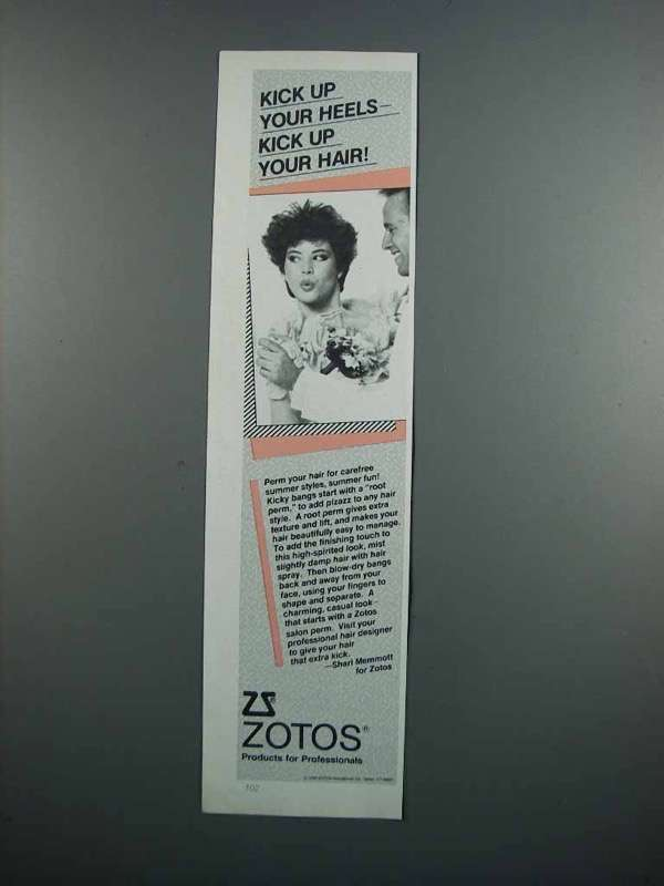 Primary image for 1983 Zotos Hair Products Ad - Kick Up Your Heels