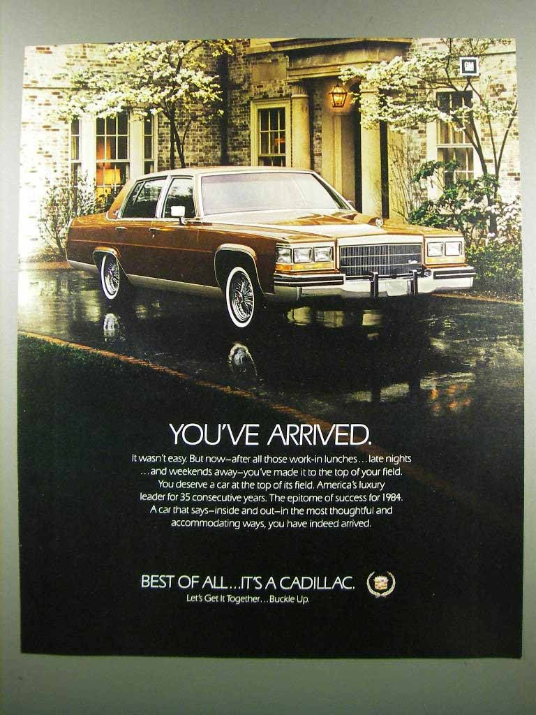Primary image for 1984 Cadillac Car Ad - You've Arrived