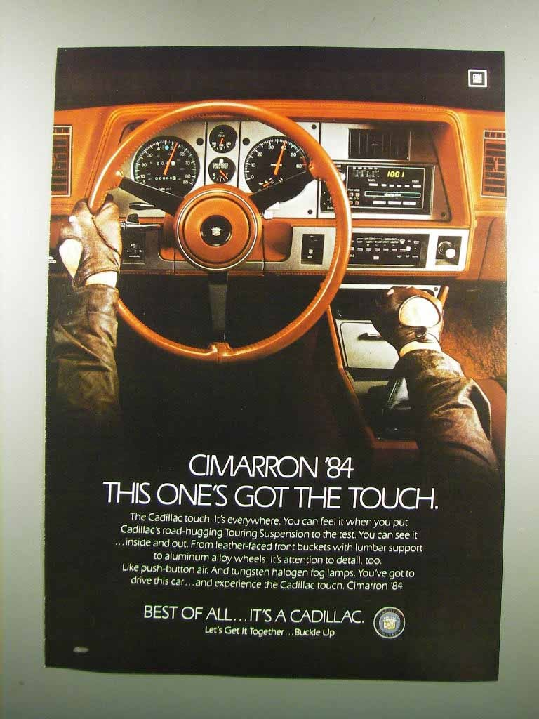 Primary image for 1984 Cadillac Cimarron Ad - This One's Got the Touch