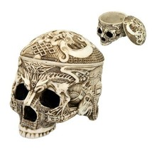 Trbetian Dragon Skull Tribal Tattoo Figurine Tr... - $29.70