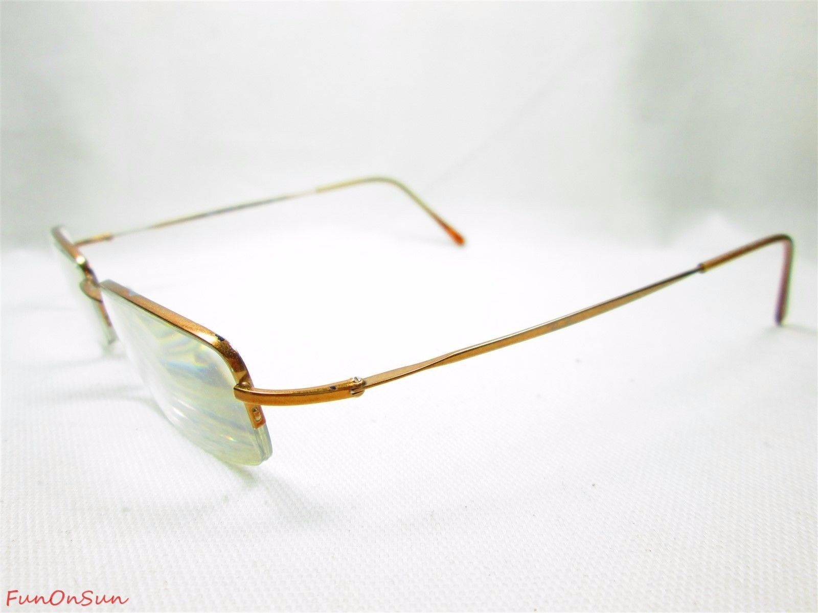 Primary image for Ray Ban Eyeglasses RB8511 1005 Brown Rectangle Titanium Frame 50mm Authentic