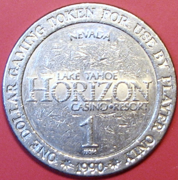Primary image for $1 Casino Token. Horizon, Lake Tahoe, NV. 1990. D44.
