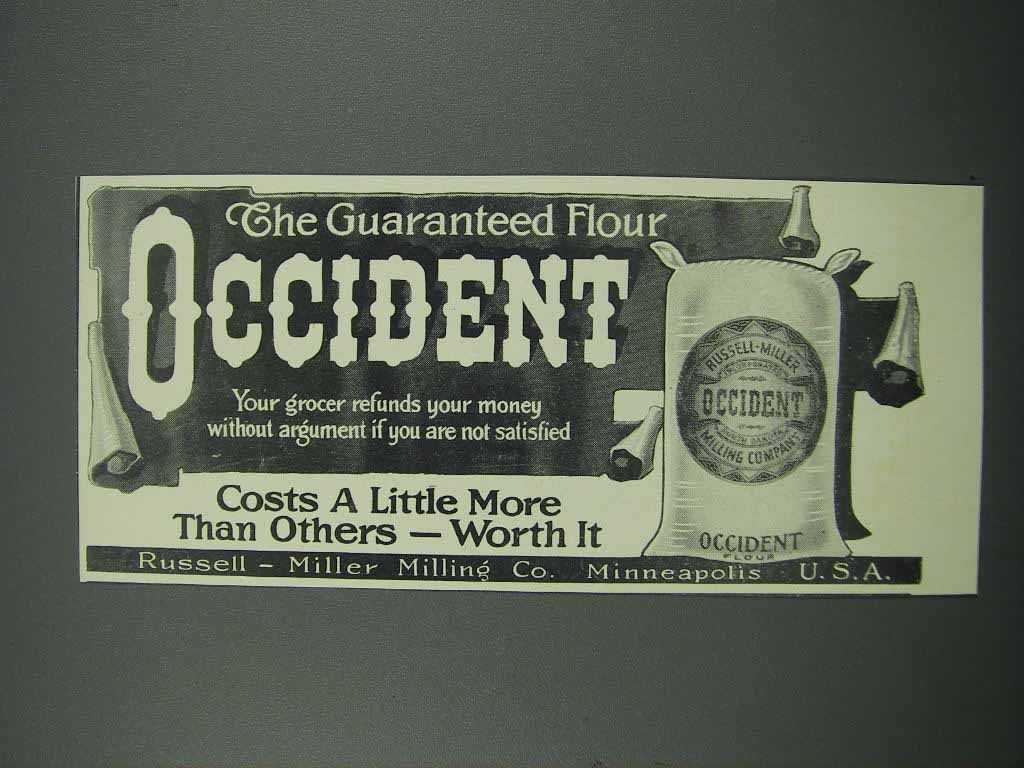 Primary image for 1914 Occident Flour Ad - The Guaranteed Flour