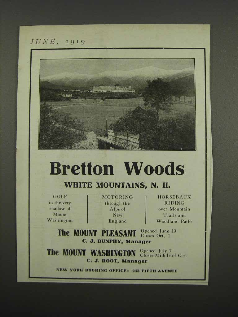 Primary image for 1919 Bretton Woods Resort Ad