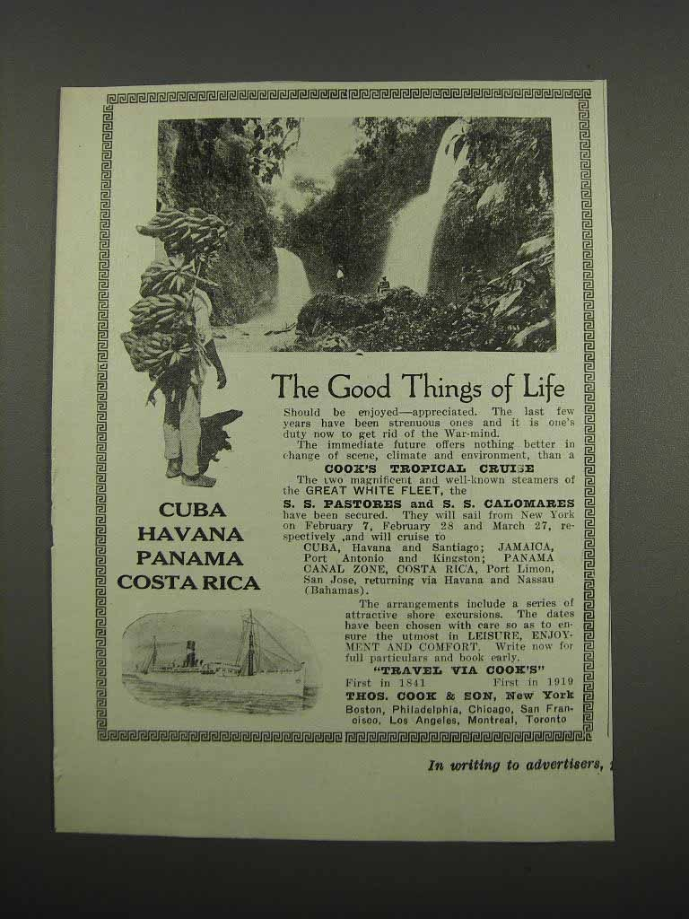 Primary image for 1919 Thos. Cook & Son Ad - Good Things of Life