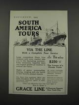 1925 Grace Line Ad - South America Tours - $14.99