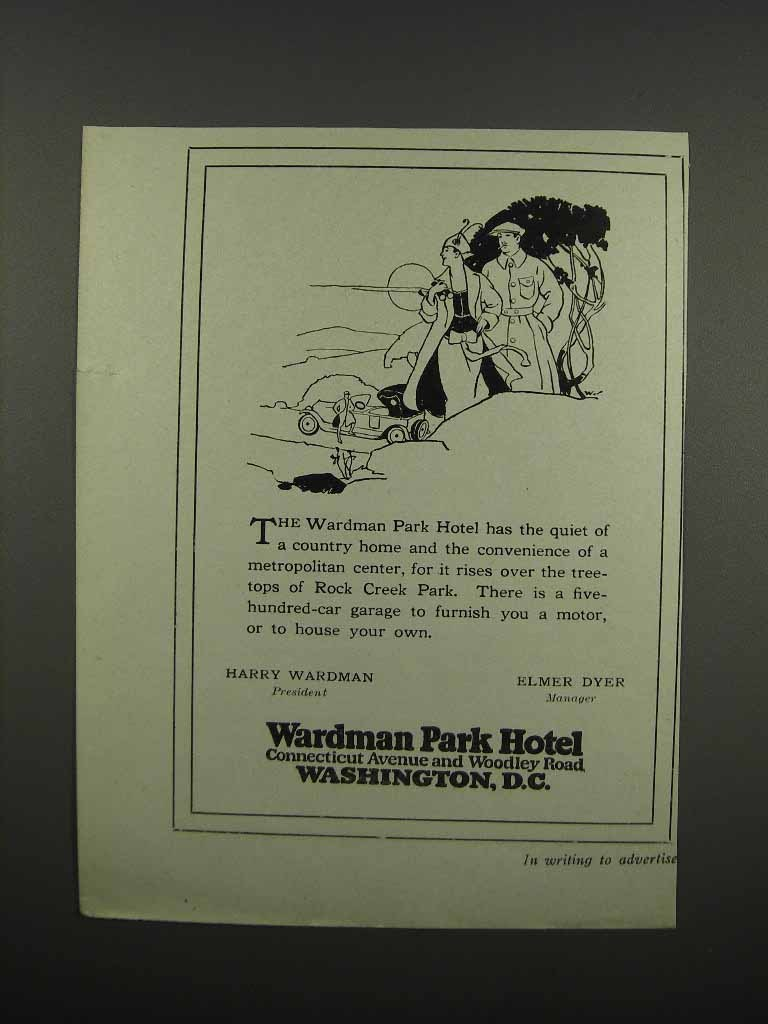 Primary image for 1920 Wardman Park Hotel Ad - Has the Quiet