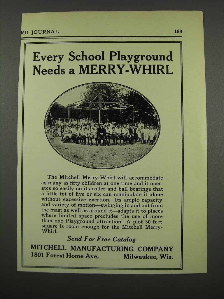 Primary image for 1929 Mitchell Merry-Whirl Ad - School Playground Needs