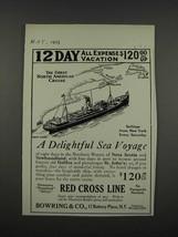 1925 Red Cross Line Ad - A Delightful Sea Voyage - $14.99