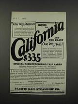 1925 Pacific Mail Steamship Co. Ad - California - $14.99