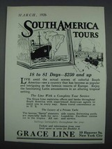 1926 Grace Line Cruise Ad - South America Tours - $14.99