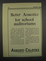 1929 Acousti-Celotex Tiles Ad - For School Auditoriums - $14.99