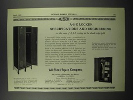 1929 All-Steel-Equip Company Lockers Ad - $14.99