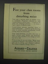 1929 Acousti-Celotex Tiles Ad - Free Your Class Rooms - $14.99