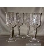 Set of 4  Royal Crystal Rock(RCR) Opera Pattern Crystal Cut Water/Wine G... - $24.99