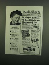 1950 Black & Decker Home-Utility Tools Ad - Tip From Anne Baxter - $14.99