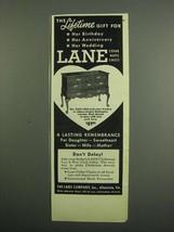 1950 Lane Cedar Hope Chest No. 2455 Ad - $14.99