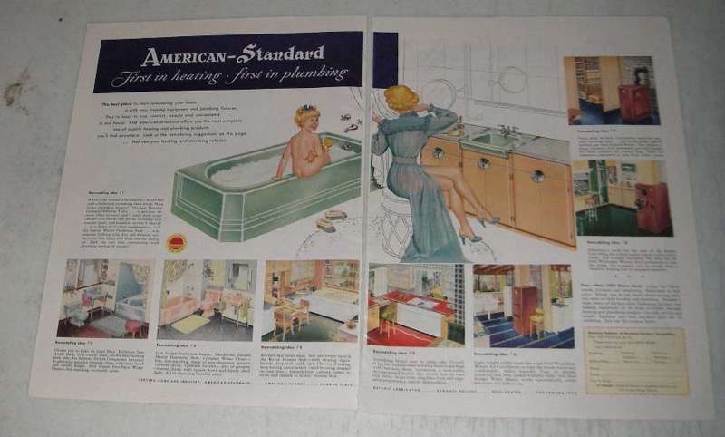 Primary image for 1951 American-Standard Plumbing Products Ad