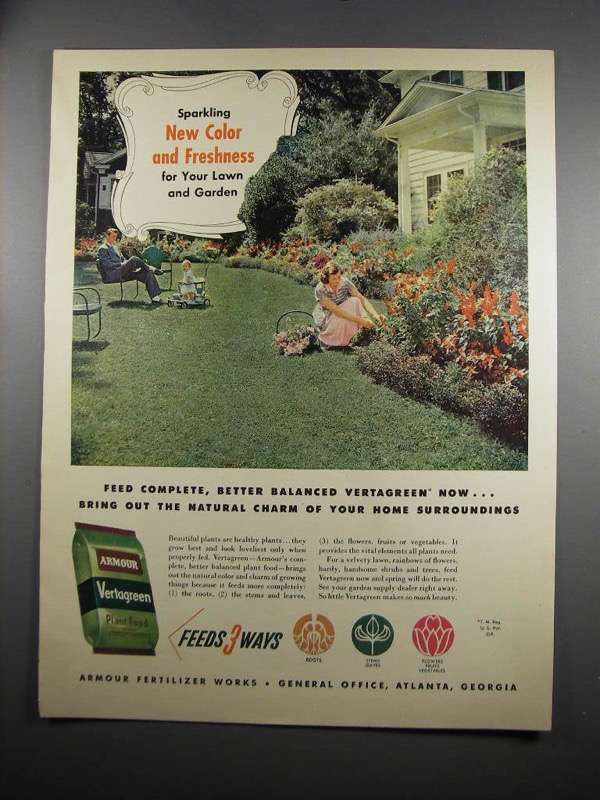 Primary image for 1951 Armour Vertagreen Ad - New Color and Freshness