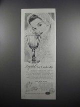 1951 Cambridge Corinth Crystal Goblet Ad - $14.99