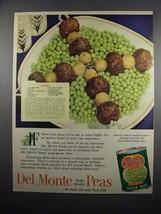 1951 Del Monte Peas Ad - Lambkebabs recipe - $14.99