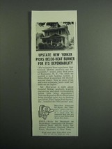 1951 Delco Heat Conversion Oil Burner Ad - New Yorker - $14.99